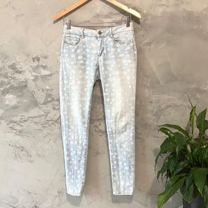 Forever 21 light flower pattern jeans